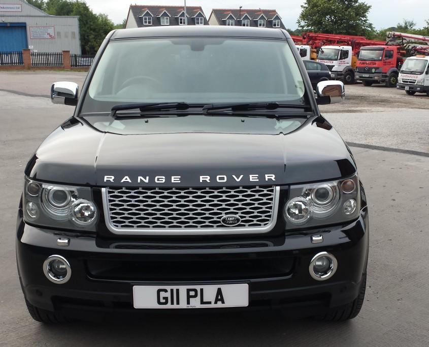 Range Rover Sport bonnet outside