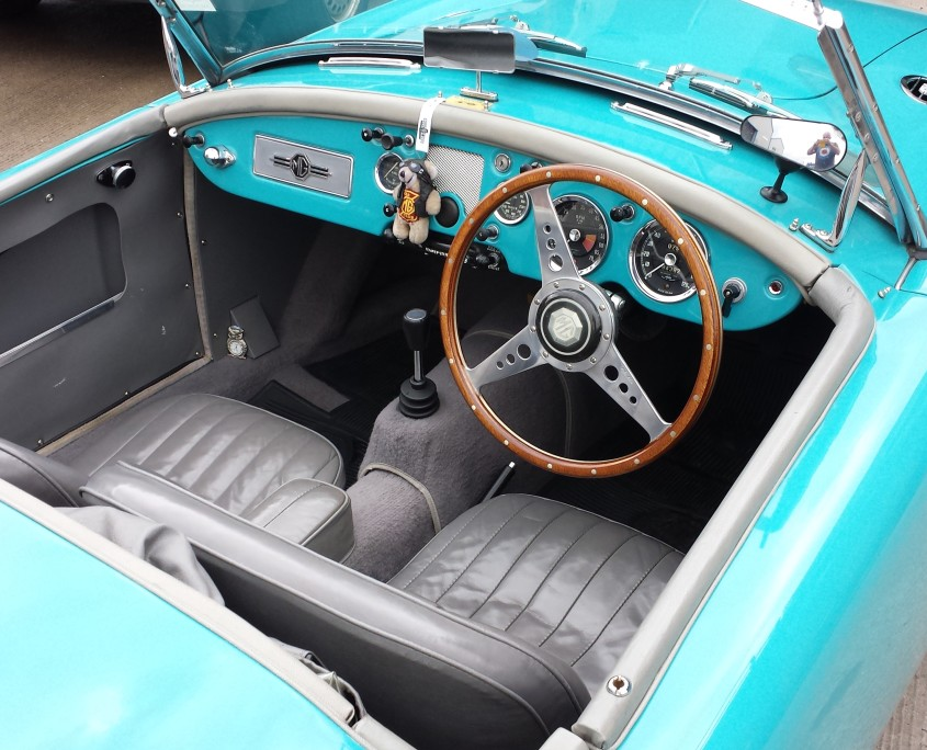 Reflective Desire 1957 MGa Interior