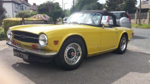 Mimosa Yellow TR6 machine polish by Reflective Desire